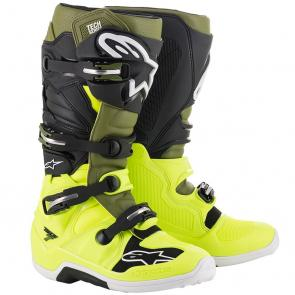 Bota Alpinestars Tech 7 - Amarelo/Verde/Preto