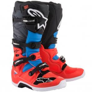 Bota Alpinestars Tech 7 - Azul/Vermelho