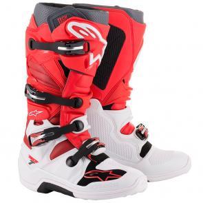 Bota Alpinestars Tech 7 - Vermelho/Branco