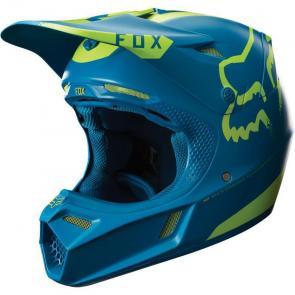 Capacete Fox V3 Teal Moth Edição Limitada
