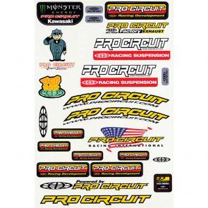Cartela de Adesivos Pro Circuit