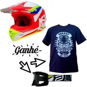 Capacete ASW Commander - Brinde Camiseta Mx Parts Skull Rider + Óculos ASW A3