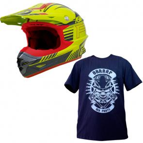 Compre Capacete ASW Hyperspace e Ganhe a Camiseta Mx Parts Skull Rider