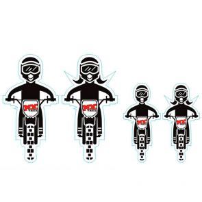 Kit Adesivo Família Motocross