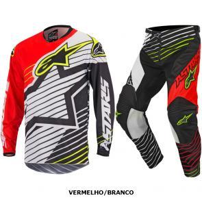 Kit Calça + Camisa Alpinestars Racer Braap 17
