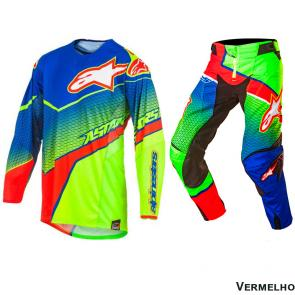 Kit Calça + Camisa Alpinestars Techstar Venom 17 Edição Limitada