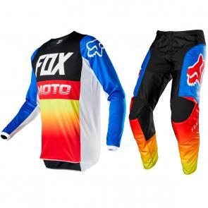 Kit Calça + Camisa Fox 180 Fyce 2020 Azul/Vermelho