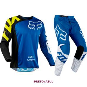 Kit Calça + Camisa Fox 180 Race 18