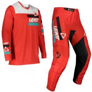Kit Calça + Camisa Leatt 3.5 Ride Vermelho 2022