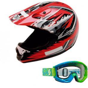 Kit motocross Capacete + Óculos