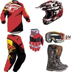 Kit Motocross Fly - 6 Itens