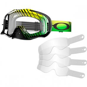 Kit Óculos + Tear Off Oakley Crowbar MX Signature Villopoto