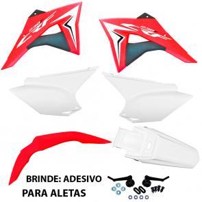 Kit Plástico CRF 230 Avtec com Aletas Biker