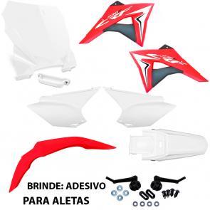 Kit Plástico CRF 230 Avtec + Aletas e Number Plate Biker