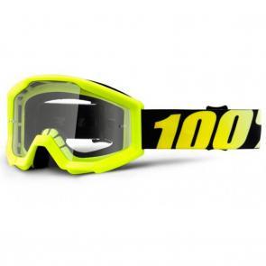 Óculos 100% Strata Neon Yellow - Lente Transparente