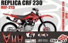 Kit Adesivo Completo R�plica CRF 230 2010