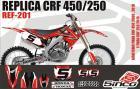 Kit Adesivo Completo R�plica CRF 450/250