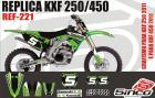 Kit Adesivo Completo R�plica KXF 250/450 11