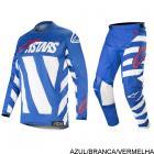 Kit Cal�a + Camisa Alpinestars Racer Braap 19