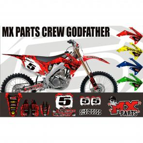 Kit Adesivo Mxparts Crew Godfather - Exclusivo