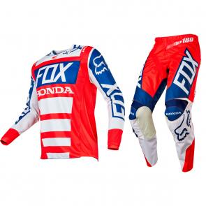 Kit Calça + Camisa Fox 180 Honda 17
