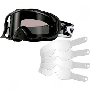 Kit Óculos + Tear Off Oakley Crowbar MX Jet Black Speed