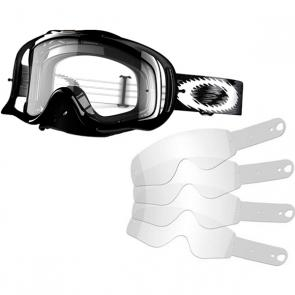 Kit Óculos + Tear Off Oakley Crowbar MX Jet Black Speed Lente Transparente