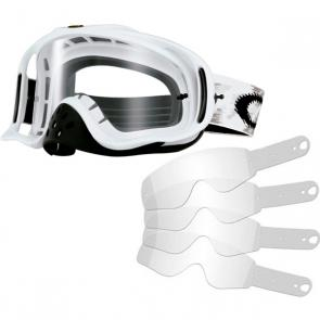 Kit Óculos + Tear Off Oakley Crowbar MX Matte White Speed