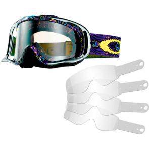 Kit Óculos + Tear Off Oakley Crowbar MX Troy Lee Designs Discharge