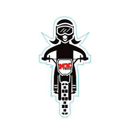 Adesivo Fam�lia Motocross Filha