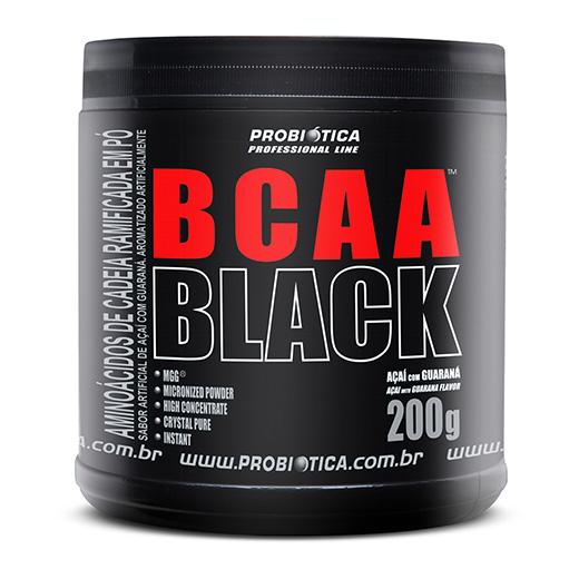 BCAA Black 200g Probi�tica - A�a� com Guaran�