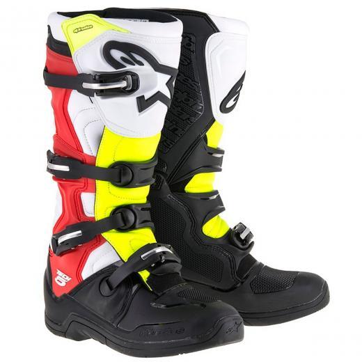 Bota Alpinestars Tech 5 - Preto/Vermelho/Amarelo