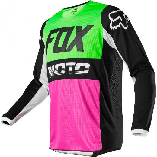 Camisa Fox 180 Fyce 2020 Verde/Rosa