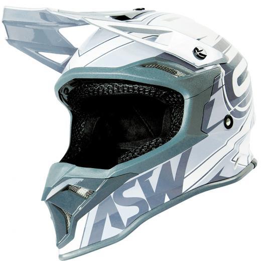 Capacete ASW Fusion 2.0 Blade Branco/Cinza