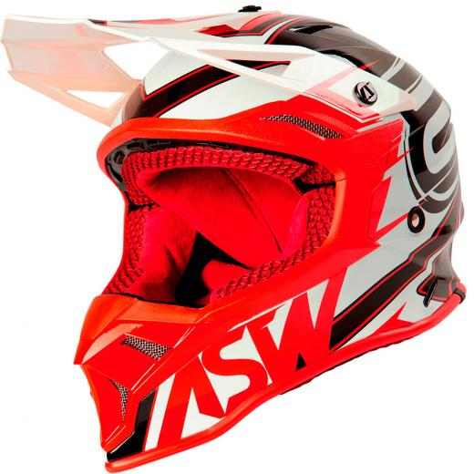 Capacete ASW Fusion 2.0 Blade Branco/Vermelho