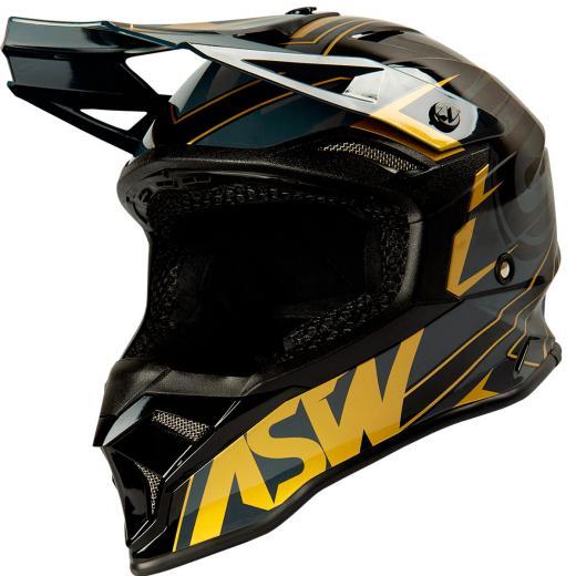 Capacete ASW Fusion 2.0 Blade Preto/Dourado