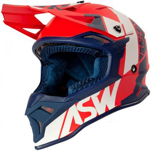Capacete ASW Fusion 2.0 Seecker Vermelho/Azul