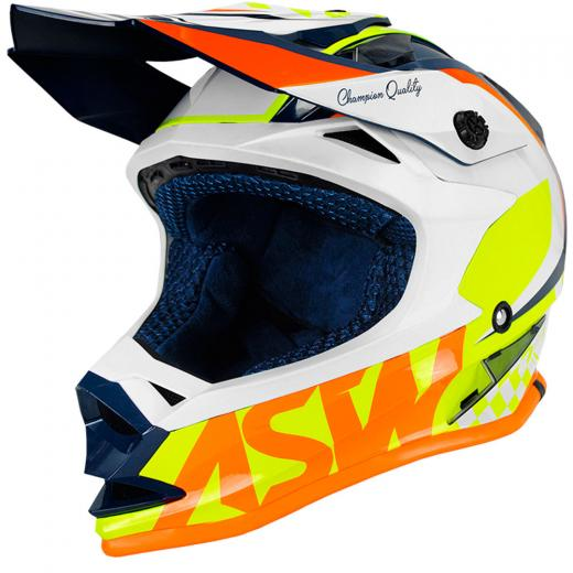 Capacete ASW Fusion Glory 19 - Azul/Amarelo