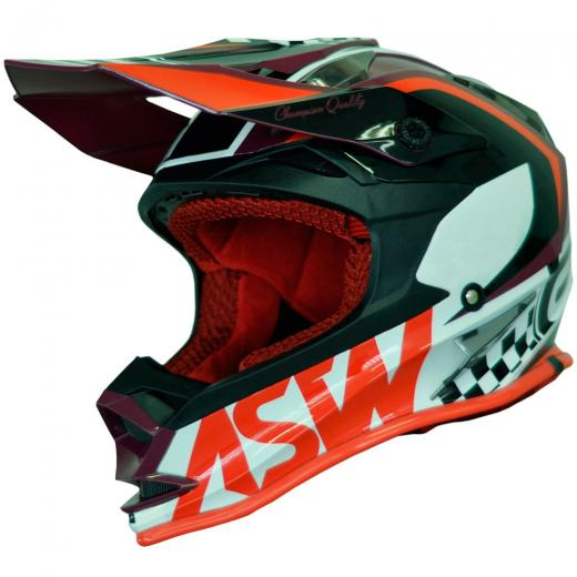 Capacete ASW Fusion Glory 19 - Vermelho Escuro