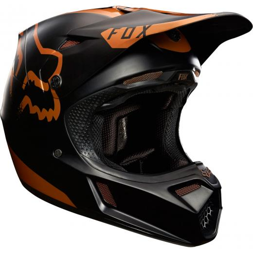 Capacete Fox V3 Copper Moth Edi��o Limitada