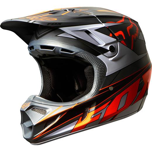 Capacete Fox V4 Race Cinza/Laranja