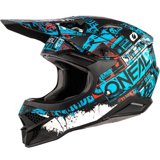 Capacete Oneal 3Series Ride Preto/Azul