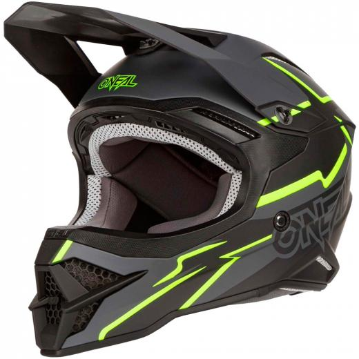 Capacete Oneal 3Series Voltage Black/Yellow Neon