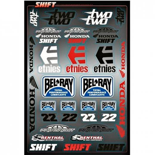 Cartela de Adesivos Shift Two Two Motorsports
