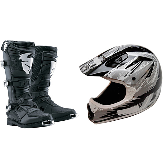 Combo Bota + Capacete Mx Parts