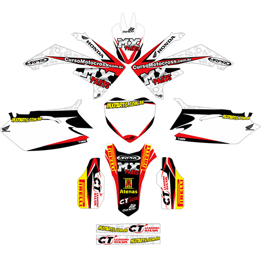 Kit Adesivo Completo Equipe Ls Racing todas motos
