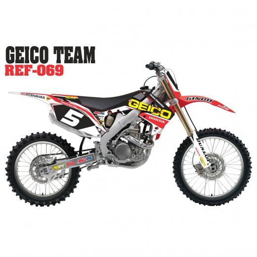 Kit Adesivo Geico Team