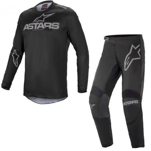 Kit Cal�a + Camisa Alpinestars Fluid Graphite 2021