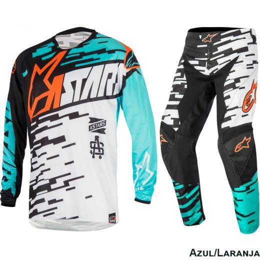 Kit Cal�a + Camisa Alpinestars Racer Braap 16