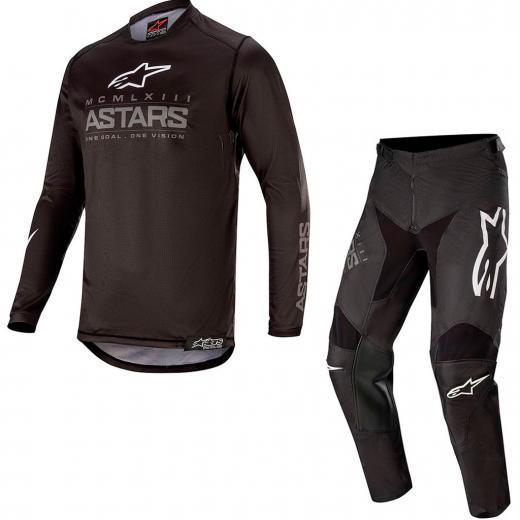 Kit Cal�a + Camisa Alpinestars Racer Graphite 2020